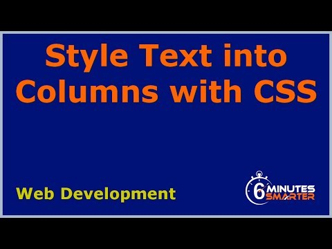 Create Columns with CSS