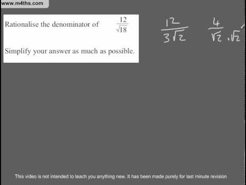 (Q200) A Star GCSE Revision Questions surds (more A grade)