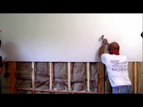 How to remove and install sheet rock.