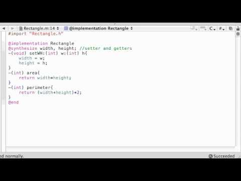 Objective C Programming Tutorial - 35 - Enhancing the Rectangle class