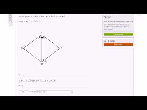 Basic Triangle Proofs Module Example 2