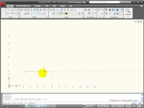 AutoCAD Tutorial - Using Absolute Coordinates