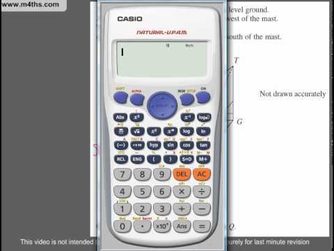 (Q116) A Star GCSE Revision Questions trig multistelp problem