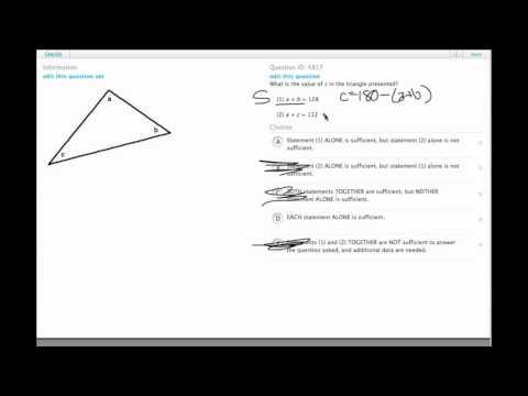 Grockit GMAT Quantitative - Data Sufficiency: Question 4817