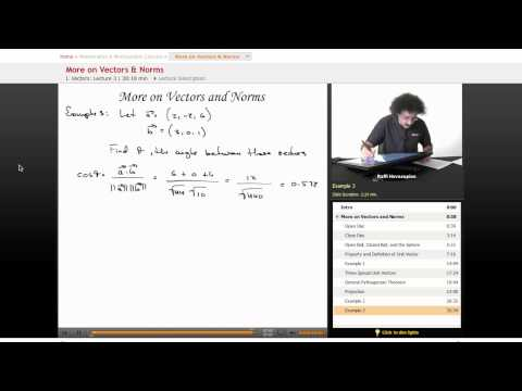 Multivariable Calculus: More on Vectors & Norms