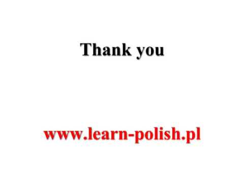 Basic Survival Polish. Lesson 3. ABC School Of Polish.