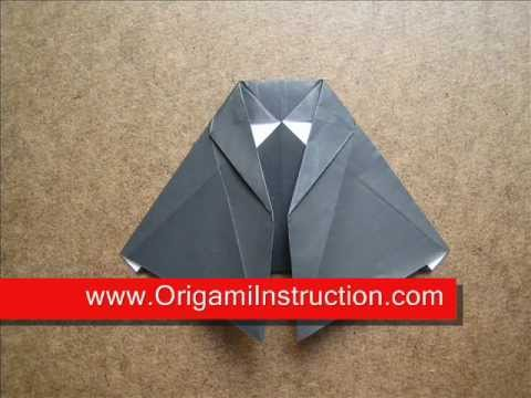 How to Fold Origami Witch Dress - OrigamiInstruction.com