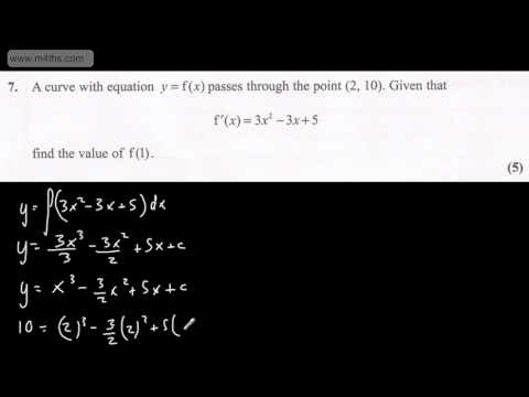 (q7) Core 1 Edexcel January 2012 quick worked answers