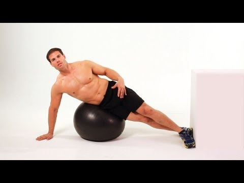 Side Crunch on Exercise Ball | Home Ab Workout for Men