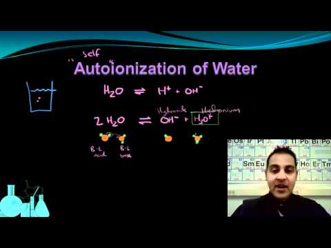 Chemistry 12.2 Autoionization of Water and Kw