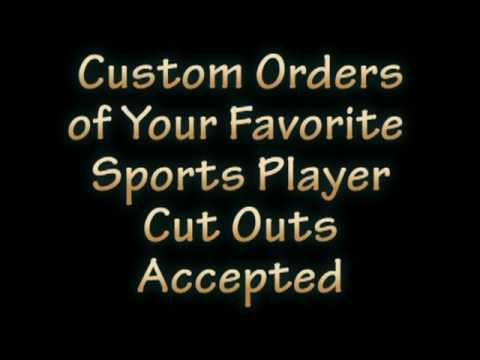 Do It Yourself Cut Out Players for Sports Theme Centerpieces