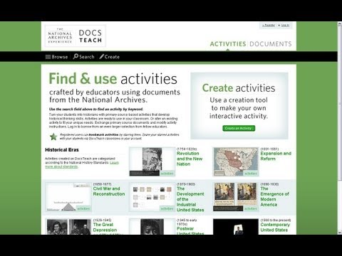 How to Find Activities on DocsTeach