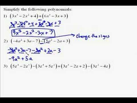 A110.8 Adding and Subtracting Polynomials
