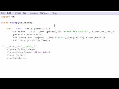wxPython Programming Tutorial - 2 - Creating Buttons