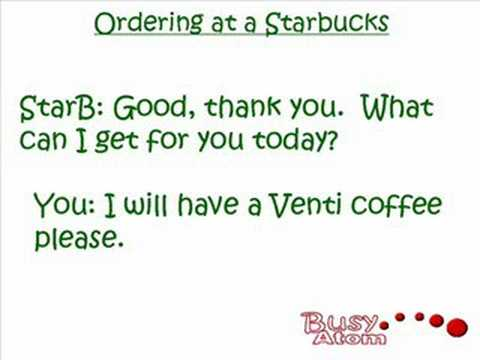 Starbucks Ordering part 1