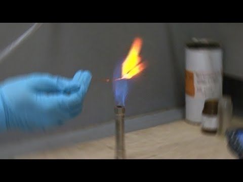 Calcium Chloride in Bunsen Flame