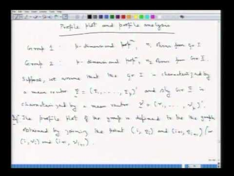 Mod-01 Lec-16 Profile analysis-I