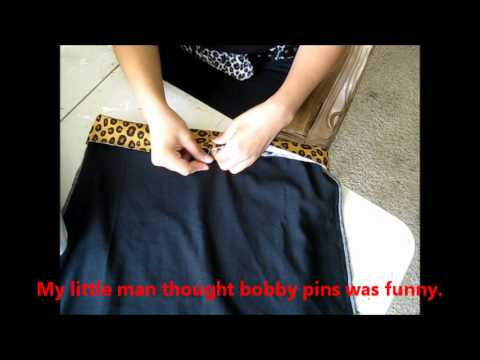 D.I.Y. Tutorial: How I make a pencil skirt with a t-shirt by BettieJoe88 PART 3