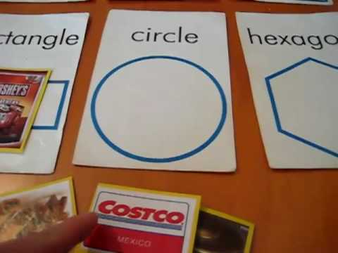 Preschool - Math. Shapes match