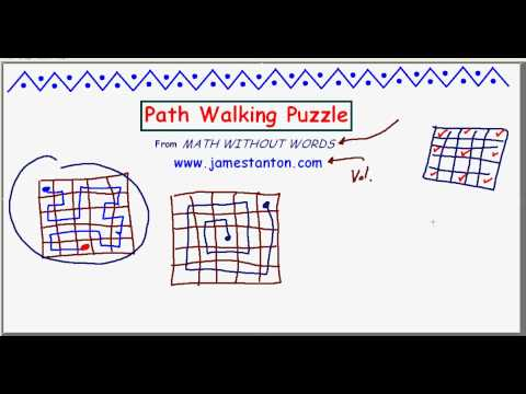 Path Walking Puzzle (TANTON Mathematics)