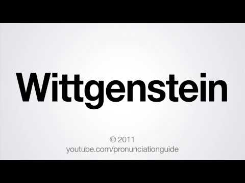 How to Pronounce Wittgenstein