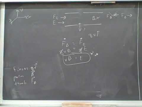 Balancing electric and magnetic forces (2)