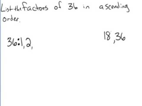 Finding factors in ascending order