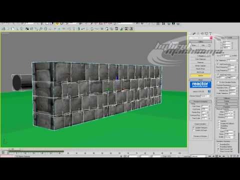 3D Studio MAX - Procutter Tool / Reactor Wall Part 4