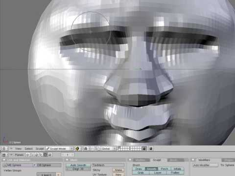 Tutorial Construccion Cabeza Blender Sculpt - Making a head with Blender Sculpt Tutorial