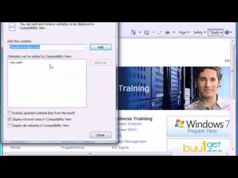 IE8 Compatibility View in Windows 7