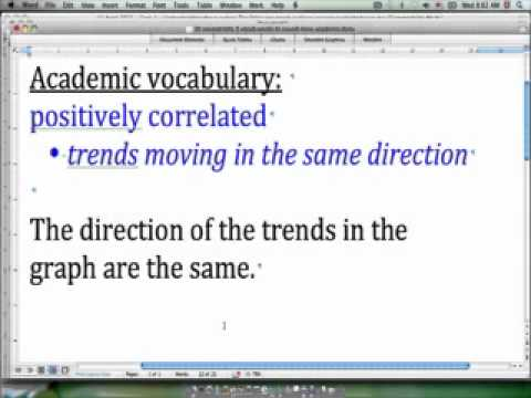 30 second IELTS - Academic vocabulary - 'positively correlated'