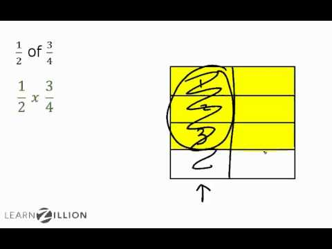 Multiply fractions by fractions by finding a part of a part - 5.NF.4