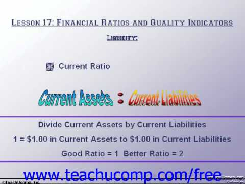 Accounting Tutorial Liquidity Training Lesson 17.2