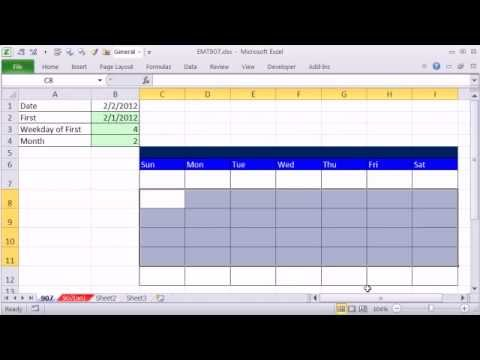 Excel Magic Trick 907: How To Make Excel Calendar (4 Examples)