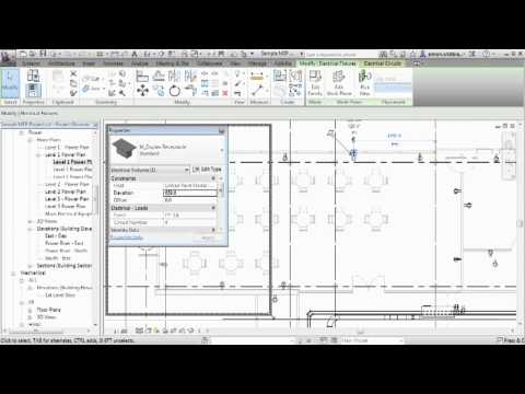 Revit MEP 2013 Tutorial | Re-Hosting Elements