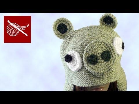 Crochet Geek - Crochet Pig Grumpy Bird Hat