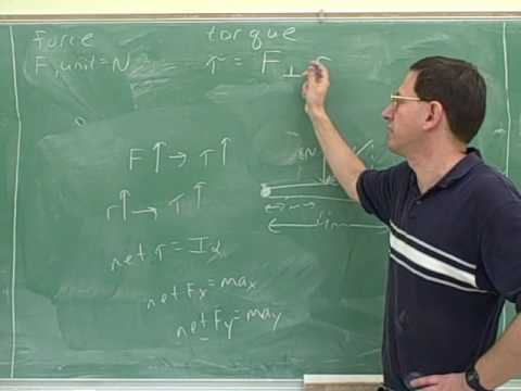 Physics: Rotational kinematics and torque (9)