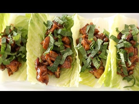 Chicken Lettuce Wraps Recipe (How To Make) || KIN EATS