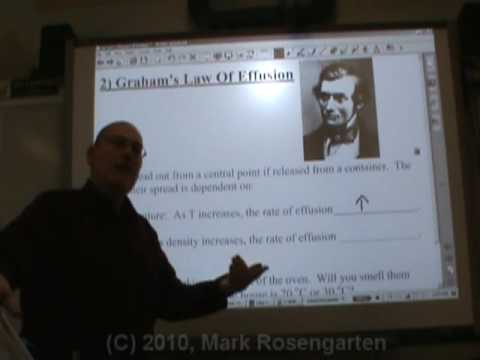Chemistry Tutorial 3.4b:  Graham's Law Of Effusion