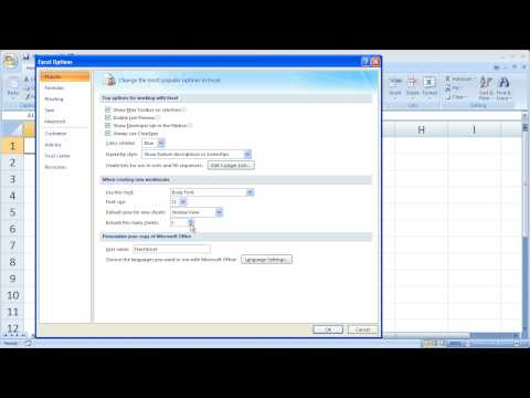 Excel Tips 10 - Change Default Excel Spreadsheet Settings - # Sheets, Font, Size, etc.