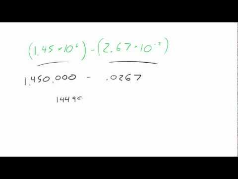 Introduction to Physics - Lesson 4 - Subtraction in Scientific Notation
