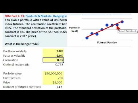 Optimal hedge of equity portfolio with S&P futures contract, FRM Q&A (hedge)
