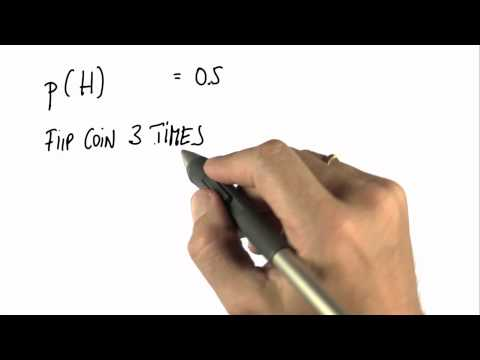 Three Flips - Intro to Statistics - Programming Bayes Rule - Udacity
