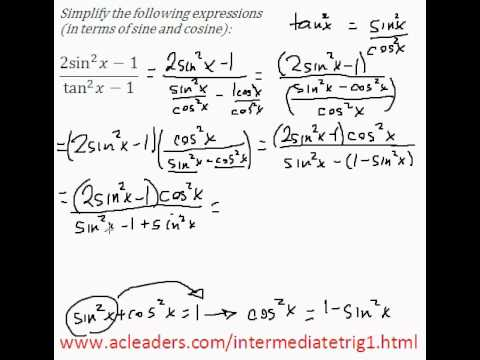 Simplifying trig expressions - Pt. 6 (EASY!!!!!)