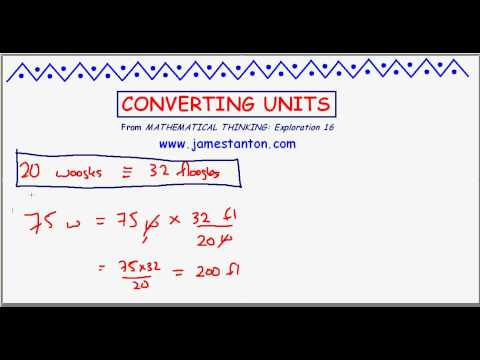 On Converting Units (TANTON Mathematics)