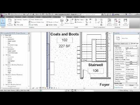 Revit Architecture 2013 Tutorial | Hiding and Revealing Elements