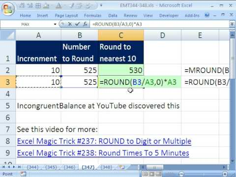 Excel Magic Trick 347: Magic Moments In Excel! MROUND v ROUND functions