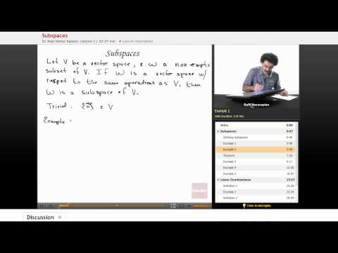 Linear Algebra: Subspaces