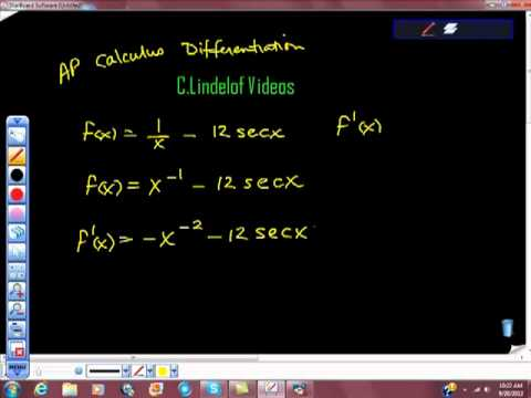 AP Calculus Differentiation Trigonometric Functions Multiple Rules