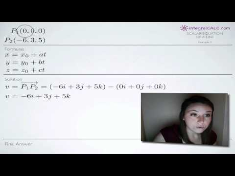 Scalar Equation of a Line Example 3